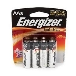Energizer max alkaline batteries, AA - 8 ea/pack, 6 pack