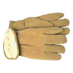 Boss Manufacturing P therm insulated split deerskin driver glove - large, 6 ea