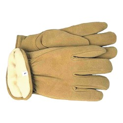Boss Manufacturing P therm insulated split deerskin driver glove - medium, 6 ea