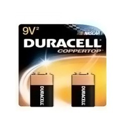 Duracell Coppertop Alkaline Batteries MN1604B2 - 9V - 2 Per Pack X 12 Pack