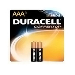 Duracell Alkaline Batteries, Size: AAA - 2 ea
