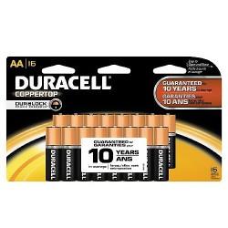 Duracell Coppertop Batteries, Alkaline AA - 16 ea