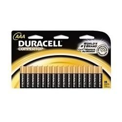 Duracell Coppertop Batteries, Alkaline AAA - 16 ea