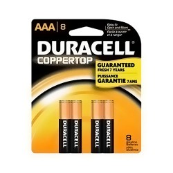 Duracell Coppertop AAA Battery, MN24B8PTP - 8 ea, 8 Pack