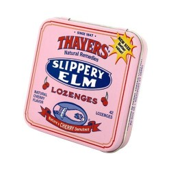 Thayers Slipper Elm Lozenges, Natural Cherry Flavor - 42 Ea, 10 pack