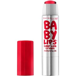 Maybelline baby lips color balm crayon, refreshing red - 2 ea