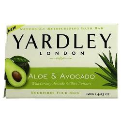 Yardley London naturally mositurizing bar soap, sweet summer aloe and cucumber - 4.25 oz