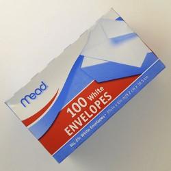 Mead white envelopes - 6 ea