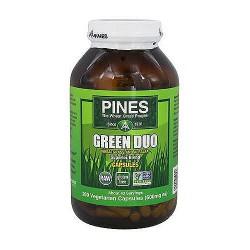 Pines Non GMO Green Duo 600 mg Superior Blend Veg capsules - 260 ea