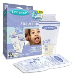 Lansinoh breastmilk storage bags - 50 ea