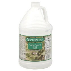 Organic nutrient rich aloe vera juice by natural high - 128 oz