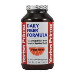 Yerba prima daily fiber formula, orange flavor  -  16 Oz