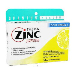 Thera Zinc Lozenges with Echinacea, Lemon Flavor, Cold Season - 24 Ea