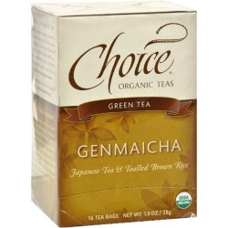 Choice Organic Teas Organic Green Tea With Toasted Brown Rice - 16 ea, 6 pack