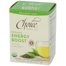 Choice organic teas energy boost green tea - 16 tea bags