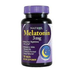 Natrol melatonin 3 mg tablets with vitamin B6 - 120 ea