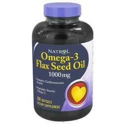 Natrol omega 3 flax seed oil softgels  - 200 ea