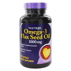 Natrol omega-3 flax seed oil 1000 mg - 120 softgels