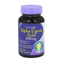 Natrol Alpha lipoic acid double strength capsule, 600mg, 30 ea