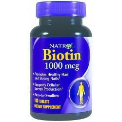 Natrol Biotin 1000mcg tablets for healthy hair and nails - 100 ea