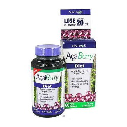 Natrol acaiberry diet super foods capsules supports weight loss, 60 ea