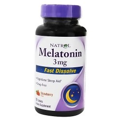 Natrol Melatonin 3mg Fast Dissolve Tablets, Nighttime Sleep Aid - 90 ea