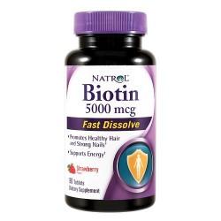 Natrol biotin 5000mcg fast dissolve tablets strawberry- 90 ea