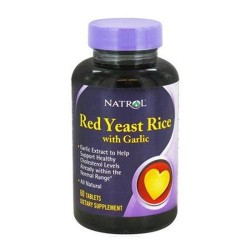 Natrol red yeast rice with garlic - 60 ea