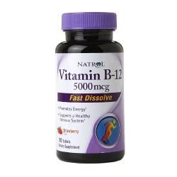 Natrol vitamin b 12 5000mcg fast dissolve tablets strawberry- 100 ea