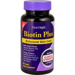 Natrol Biotin with Lutein caps - 60  ea