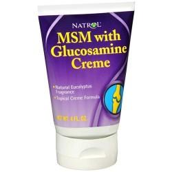 Natrol msm with glucosamine topical creme formula- 4 oz