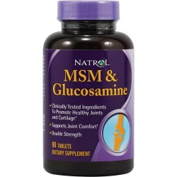 Natrol msm and glucosamine double strength tablets - 90 ea