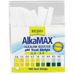 Natural Balance Alkamax Alkaline Booster PH Test Strips - 100 ea