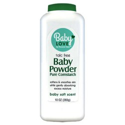 Baby love talc free baby powder pure cornstarch - 12 ea