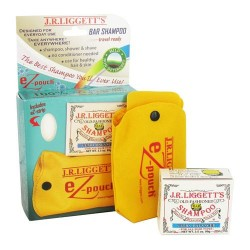 Jr liggetts ez-pouch travel case and ultra balanced shampoo bar - 1 ea