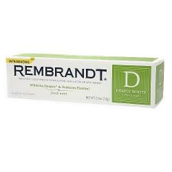 REMBRANDT Plus Premium Whitening Toothpaste, Fluoride and Peroxide Fresh Mint - 2.6 Oz