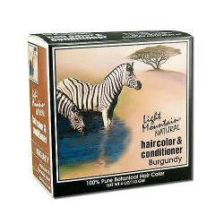 Light Mountain Natural Hair Color and Conditioner Kit, Burgundy - 4 oz, 2 pack