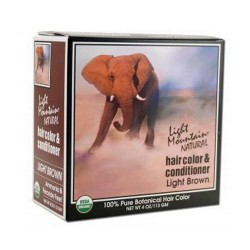 Light Mountain Natural Hair Color And Conditioner, Light Brown - 4 Oz