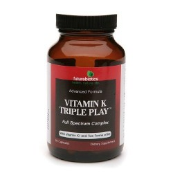 Futurebiotics vitamin k triple play, capsules  -  60ea