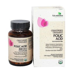 Futurebiotics certified organic folic acid tablets - 120 ea