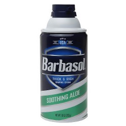Barbasol beard buster thick and rich shaving cream, soothing aloe - 10 oz