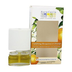 Aura Cacia, Electric Aromatherapy Air Freshener, Uplifting Bergamot And Orange - 0.52 oz