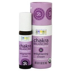 Aura Cacia Organic Chakra Balancing Roll On  Enlightening Crown - 0.31 oz