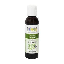 Aura Cacia organics 100% pure skin care oil Jojoba - 4 oz