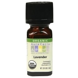 Aura Cacia Organic 100% Pure Lavender Essential Oil - 0.25 Oz