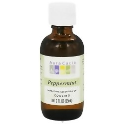 Aura Cacia 100% pure essential oil cooling Peppermint (mentha piperita) - 2 oz