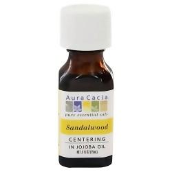 Aura Cacia aromatherapy precious essentials oil sandalwood with Jojoba - 0.5 oz