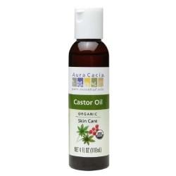 Aura cacia castor oil- 4 oz