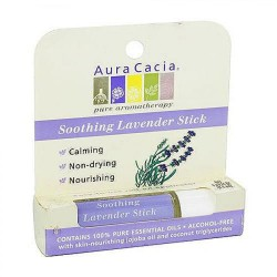 Aura Cacia Aromatherapy Roll On, Soothing Lavender - 0.29 oz, 6 pack