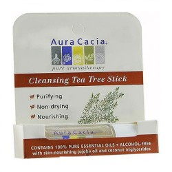 Aura Cacia Aromatherapy Roll On, Cleansing Tea Tree - 0.29 oz, 6 Pack